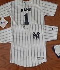 New York Yankees  Cool Base MLB Majestic Kids 4/7 Replica Jersey add name and #