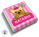 Personalised YORKIE Yorkshire Terrier Girl's Birthday Party Favour Chocolates