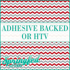 Maroon, Grey & White Chevron Pattern #1 Adhesive Vinyl or HTV for Crafts Shirts