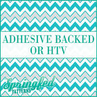 Aqua & Light Grey Chevron Pattern #7 Adhesive Vinyl or HTV for Crafts Shirts