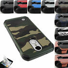 FOR LG ARISTO LV3 HEAVY DUTY SLIM FIT CASE SHOCKPROOF HYBRID DEFENDER COVER+FILM