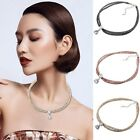 1 Piece Hot Charm Beauty Women Silver Plated CZ Choker Bib Statement Necklace