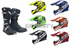 New Wulfsport Helmet & Boots Bundle Motocross Enduro Trail Black Boot(All Sizes)