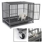 New 49� Heavy Duty Strong Metal Pet Dog Cat Cage Crate Cannel Playpen w / Wheels