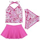 NWT 3PC SWIM BATHING SUIT TANKINI KIDS FLORAL SWIMWEAR BEACHWEAR GIRLS SIZE 3-14