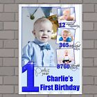 Personalised Boys First 1st Happy Birthday PHOTO Poster Print Banner N129