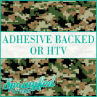 Woodland Digital Army Camo Pattern Adhesive Vinyl or HTV for Crafts or Shirts!