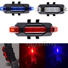 5 LED USB Rechargeable Bike Bicycle Cycling Tail Front Rear Safety Warning Light
