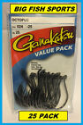 GAMAKATSU #024 OCTOPUS NSB VALUE PACK 25 HOOKS! NEW! PICK YOUR SIZE!