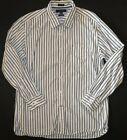 Mens Tommy Hilfiger casual dress shirt button up down long sleeve Custom fit XL