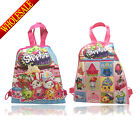 New 12PCS 2 style Shopkins Kid Cartoon Drawstring Backpack School handle gifts