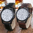 1 Piece Hot Women's Ladies Quartz Watch Glass Mirror Leather Wristwatch
