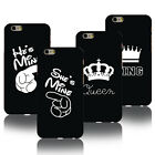 Black KING QUEEN Phone Case For iPhone 7 6 6S Plus UltraThin Hard Matte Oil Skin
