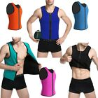 Athlete male corset front zipper vest neoprene men waist trainer bodycon corset
