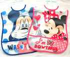 Disney Baby Mickey / Mouse Plastic Bib with Crumb Catcher  6 Mths +  New