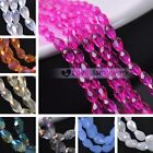 New 30/50/100pcs 4X6mm Teardrop Faceted Loose Spacer Glass Beads Jewelry Making