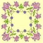 Anemone Quilt Squares 4-DESIGN 6-an Anemone Machine Embroidery single in 4 sizes