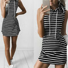 Women Evening Party Bandage Bodycon Cocktail Summer Striped Short Mini Dress New