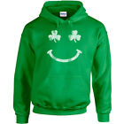 107 Irish Smile Hoodie smiley face Ireland St. Patricks Day party beer clover