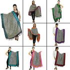 Women Long Dupatta Indian Scarf Hijab Neck Wrap Chunni Art Silk Shawl-NDP214