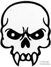 MEAN SKULL iron-on embroidered MOTORCYCLE BIKER PATCH APPLIQUE evil SKELETON new