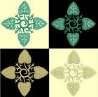 Anemone Quilt Squares 1-DESIGN 2-an Anemone Machine Embroidery single in 4 sizes