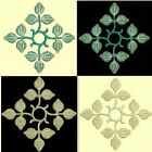 Anemone Quilt Squares 1-DESIGN 5-an Anemone Machine Embroidery single in 4 sizes
