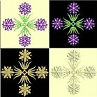 Anemone Quilt Squares 1-DESIGN 7-an Anemone Machine Embroidery single in 4 sizes