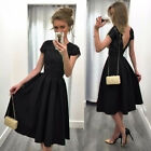 Women's Formal Evening Party Lace Backless Wedding Bridesmaid Short Mini Dresses