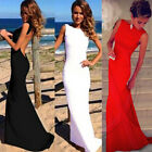 Women's Evening Party Ball Prom Gown Formal Bridesmaid Cocktail Long Dress