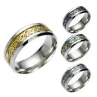 Dragon Scale Dragon Pattern Beveled Edges Celtic Rings Jewelry Wedding Band rr88