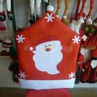 Decoration Red Seat Chair Back Cover Christmas Theme Table Decor Gift 3 Types
