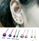 Hipster Round ball Anti-Allergy Titanium Steel Earrings Stud Free Shipping