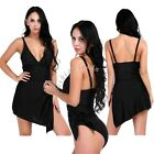 Plus Size Womens Push-up One-piece Swim Dress Swimsuit Bikini Swimwear Tankini