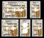 COFFEE CUP WORDS MOCHA LATTE ESPRESSO BROWN LIGHT SWITCH COVER PLATE