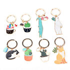 1pc Creative Succulent Plants Cactus Keychain Key Ring Keyfob Key Chain Cute