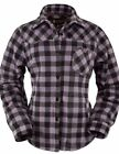Outback Trading Shirt Womens Big Long Sleeves Button Up Plaid 4267