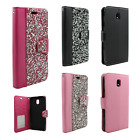 For Alcatel OneTouch Flint Brushed Metal HYBRID Rubber Case Phone Cover