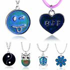 Fashion YinYang Star Heart Color Change Thermo Mood Pendant Necklace Jewellery