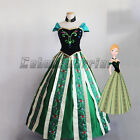 Frozen Snow Anna Adult Fancy Dress Princess Queen Cosplay Custom 4 pcs Set