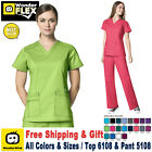 Внешний вид - WonderWink Flex [XXS-3XL] Women's Scrubs Set Medical Top Bottom Work Uniform