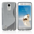 Ultra Slim TPU Gel Case Shockproof Soft Rubber Cover For LG Fortune / Phoenix 3