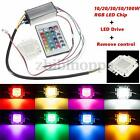 10/20/30/50/100w Rgb Led Chip Light Led Driver Power Supply Remote Waterproof Us
