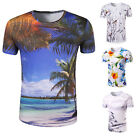 Stylish New Men 3d Print Summer Short Sleeve Casual T-Shirts Graphic Tee Shirts