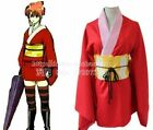 Gintama Kagura Japanese Kimono Cosplay Costume Dress Set