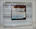 BLUE Striped HEAVY Weight 5 oz Brushed Cotton FLANNEL Sheet Set - Blue Stripes