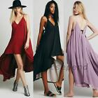 Double Layer Chiffon Summer Beach Cocktail Prom Party Embellished How Low Dress