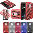 For LG Aristo ZigZag Shockproof Hybrid Rubber Silicone Case Cover Accessory