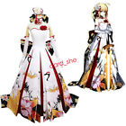 Fate/stay Night Saber New Year Ceremony Cranes Wedding Dress Cosplay Costume