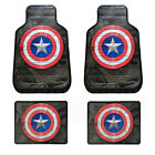 New Set Captain America Civil War Car Truck Front / Rear Back Rubber Floor Mats